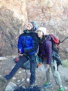 Rock Climbing Photo: Soph & I at Shelf Road