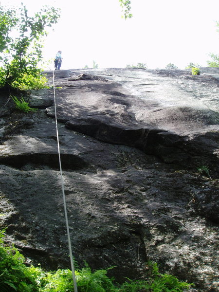Rock Climbing Photo: Rope is a bit left of the line of Forist Grump