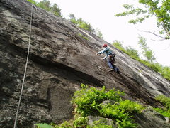 "Rock Climbing Photo: RW on ""Stone Dust""...perhaps a bit furth..."