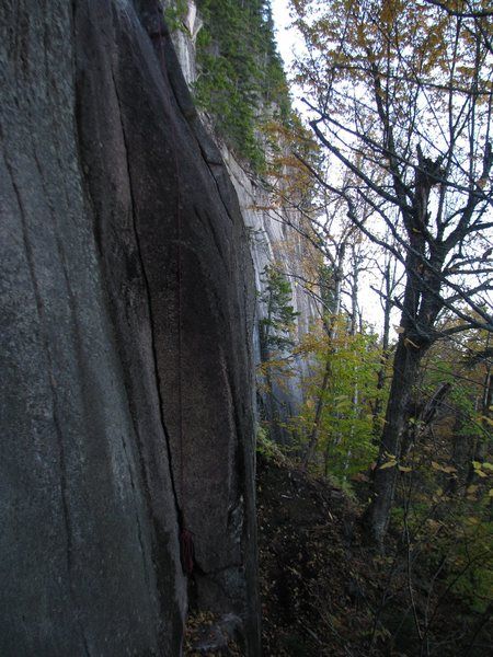 Rock Climbing Photo: The start of the Wiessner Corner - Beanstalk Wall ...