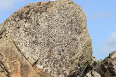 Rock Climbing Photo: Face of the Gate, few holds micro jugs and mini cr...
