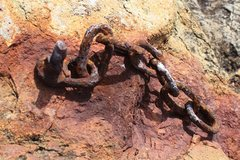 Rock Climbing Photo: Bad bolts on the Gate, we are going to replace the...