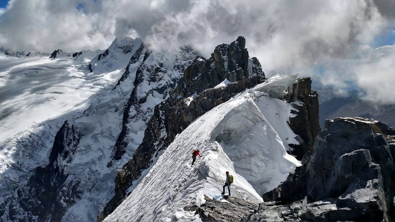 Rock Climbing Photo: Scoping out the route to the true summit (photo ta...