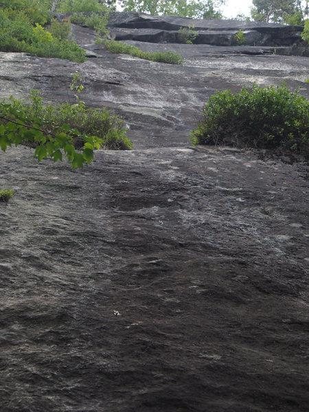 Rock Climbing Photo: Hostile Territory's break in the blueberry led...