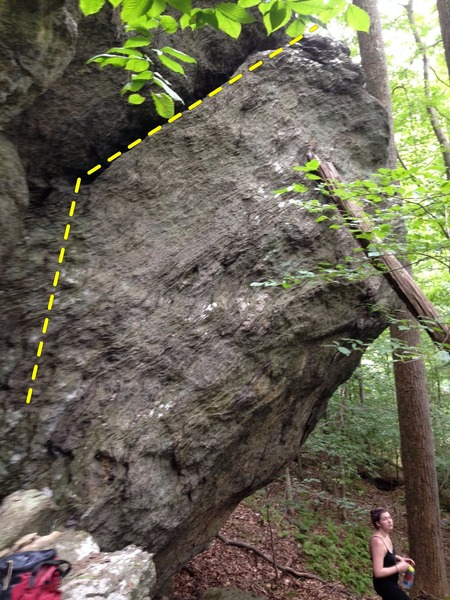 Rock Climbing Photo: left side of main face of boulder