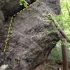 left side of main face of boulder