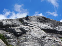 "Rock Climbing Photo: RW on P2 of ""Two Lost Guys"""