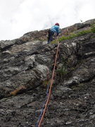 """Rock Climbing Photo: RW starts on P1 of """"Two Lost Guys"""". We s..."""