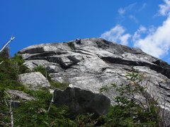 Rock Climbing Photo: Weather improved - above where Ralph is the rock l...