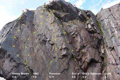 Rock Climbing Photo: Topo of the area.
