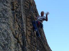 Rock Climbing Photo: Mike Arechiga on a super fun 5.8 on the Melting Wa...