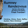 The RCA is happy to announce that we will be hosting a Rumney Rendezvous this September! This is another attempt to raise the funds we need to purchase the Final Frontier land to make Rumney complete under the protection of the Forest Service.<br> Check out the website for registration and updates on event details!