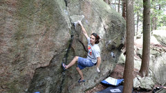 Rock Climbing Photo: 2 moves in on Snickerdoodle