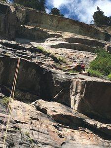 Rock Climb Fiddler On The Roof Banff National Park