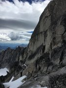 Rock Climbing Photo: slabs leading around to the main summit. You shoul...