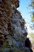 Rock Climbing Photo: Main face in-between the main overlook and the cor...