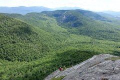 Rock Climbing Photo: [NOTE: Climbers are at the top double bolt anchor....