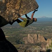 Rock Climbing Photo: Bouldering above Smith Rock