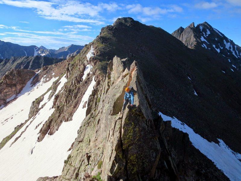 Rock Climbing Photo: Gaining X'.