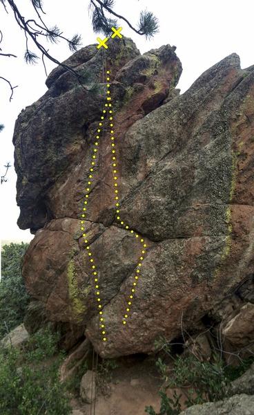 Rock Climbing Photo: North Overhang, Panorama Rock.