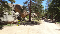 Rock Climbing Photo: This is the slab from the road. You are looking at...