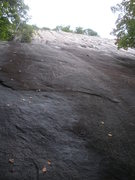 "Rock Climbing Photo: Base of Pilot Rock at the start of ""Slab Solo..."