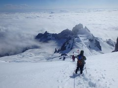 Rock Climbing Photo: Descending down from the summit plateau onto the U...