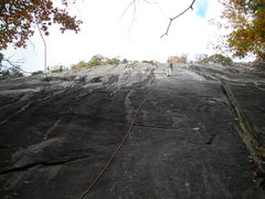 Rock Climbing Photo: Tied in to the anchors on top of pitch #1
