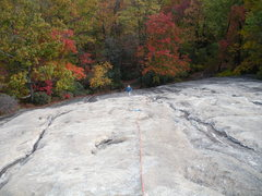 Rock Climbing Photo: View down from top of pitch 2.
