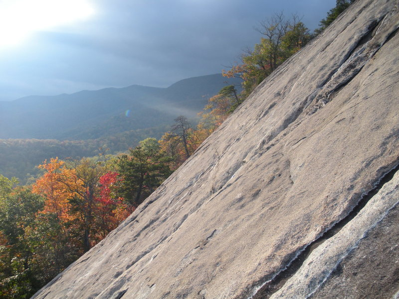 Rock Climbing Photo: Looking west(?) from the top of pitch #2.