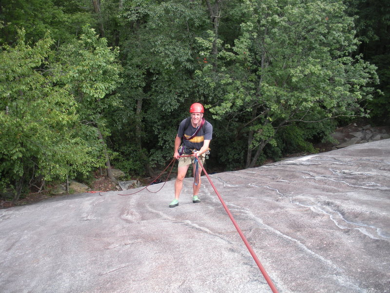 My climbing partner, Joe, rapping off of pitch #1.