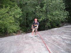Rock Climbing Photo: My climbing partner, Joe, rapping off of pitch #1.