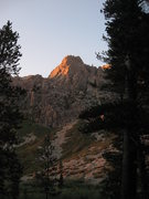 Rock Climbing Photo: Sunset on the Pinto Wall as viewed from near Pinto...