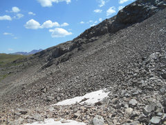 Rock Climbing Photo: Looking back to the saddle between Crystal and Tre...