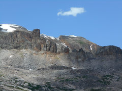 Rock Climbing Photo: The chimneys as seen between the first and second ...