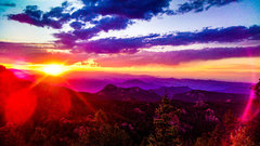 Rock Climbing Photo: Sunset on the way down after bolting a new route s...