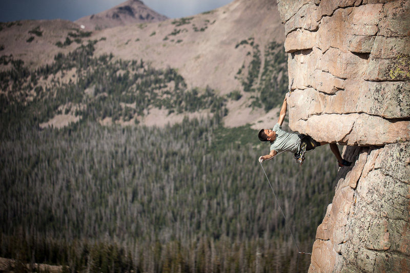 Rock Climbing Photo: David Trac pulling the roof.