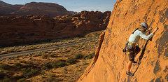 Rock Climbing Photo: Caroline Plouff Zion National Park Climbing