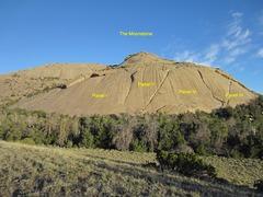 Rock Climbing Photo: I visually broke The Moonstone into 4 panels (L-R)...