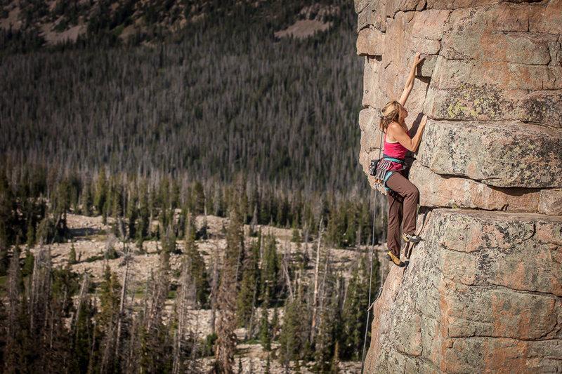 Rock Climbing Photo: Caroline Schaumann on Peace Treaty.