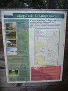 Rock Climbing Photo: Mary's Peak interpretive sign.