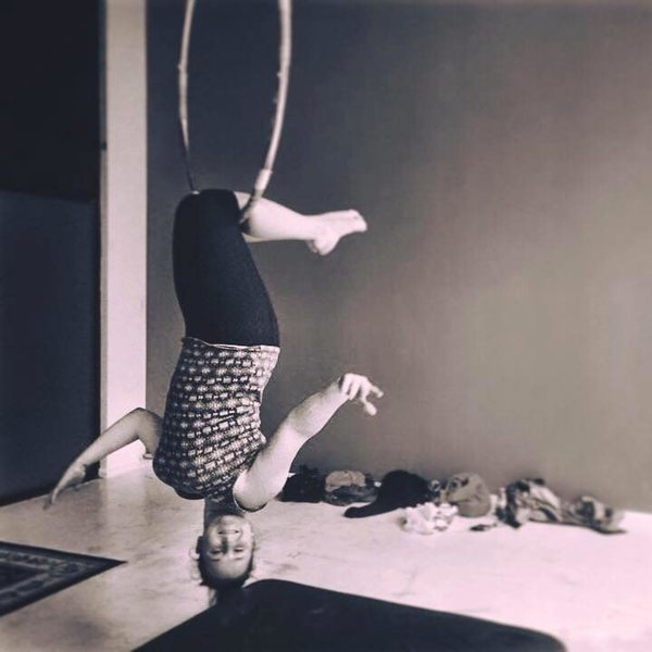 Getting comfortable being upside down in the air aka whipper training ;)