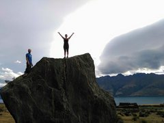 First boulder climb at Jardines, Queenstown NZ