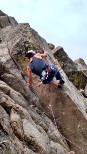 Aleix working in the crux.