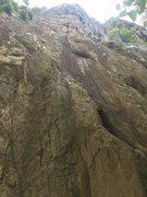 Rock Climbing Photo: Black Streak