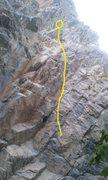 Rock Climbing Photo: climb route