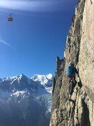 Rock Climbing Photo: Cable car access to the semi-alpine climbing of Le...