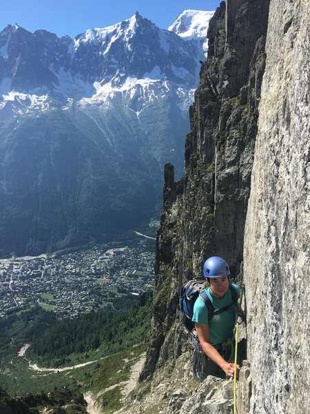 Rock Climbing Photo: Chamonix, about 4,500 ft below Le Brevent.