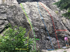 Rock Climbing Photo: The left side of Le Gros Caillou