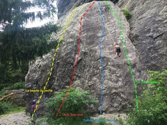 Rock Climbing Photo: Right side of Le Gros Caillou